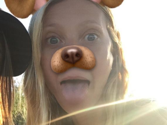 Gwyneth Paltrow postete dieses Snapchat-Selfie mit Hundeschnauze auf Instagram