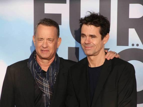 Tom Hanks und Tom Tykwer bei der Premiere von