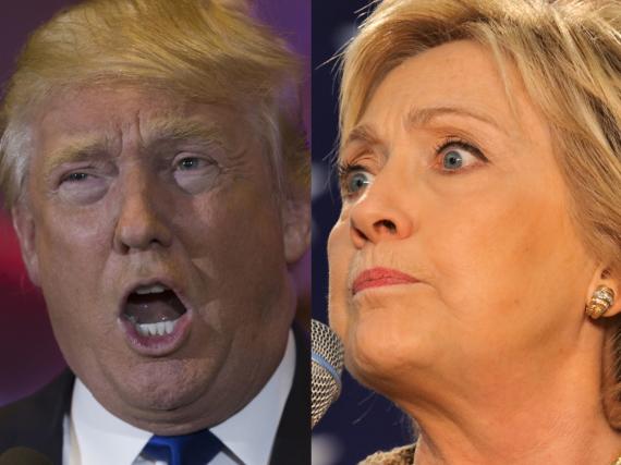 Donald Trump und Hillary Clinton wollen Barack Obama beerben