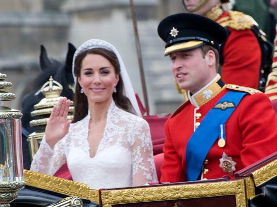 William und Kate bei ihrer Märchenhochzeit in London