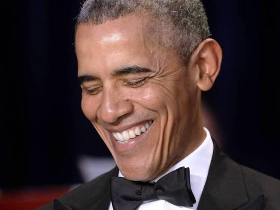 Bewies wieder einmal seinen Humor: Barack Obama