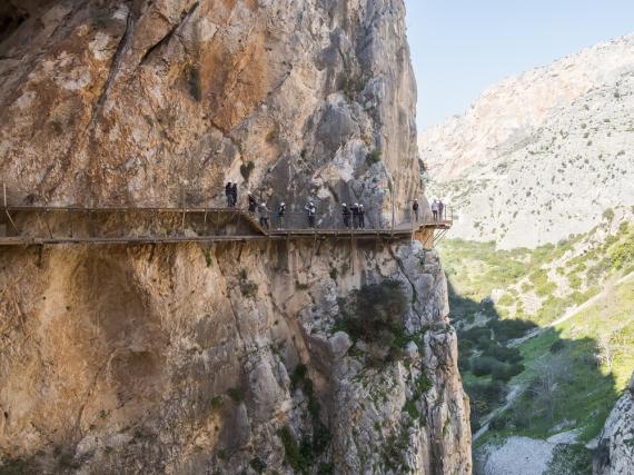 Wer Höhenangst hat, der hat auf dem Caminito del Rey nichts verloren