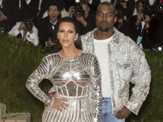 Die silbernen Zugpferde des Clans: Kim Kardashian und Ehemann Kanye West bei der Met Gala am Montag in New York
