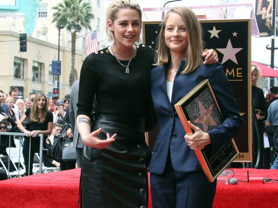 Kristen Stewart und Jodie Foster auf dem Hollywood Walk of Fame