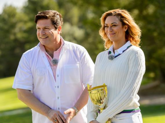 Francis Fulton-Smith und Lilly Becker als Glückspaten auf Mallorca
