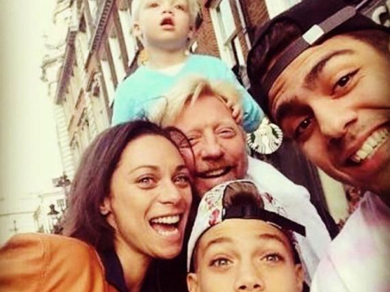 Boris Becker mit seinen drei Söhnen und Ehefrau Lilly