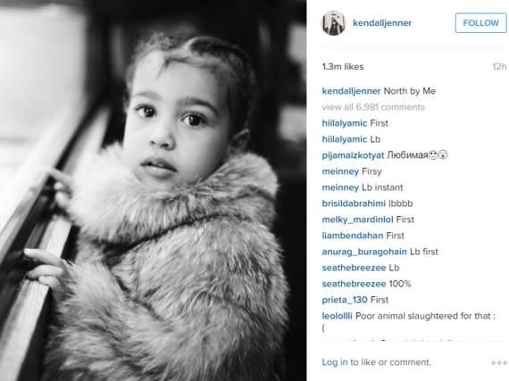 Dieses Bild von der kleinen North West hat Kendall Jenner geschossen