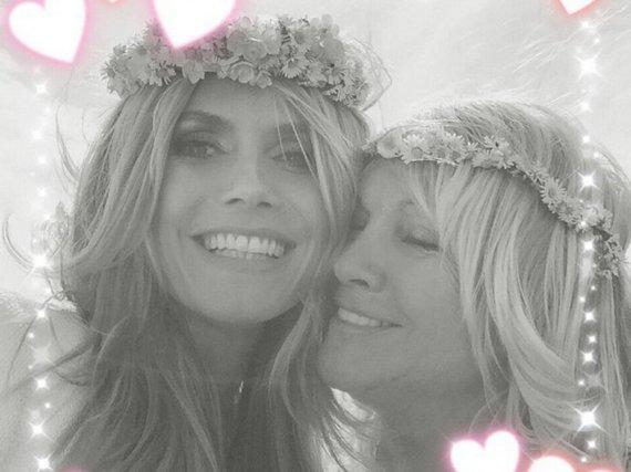 Enge Familienbande: Heidi und Erna Klum