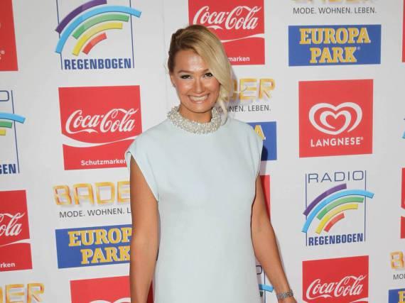 Franziska van Almsick bei der Verleihung des 19. Radio Regenbogen Awards im April 2016