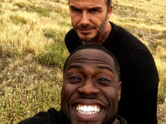 David Beckham postete auf Instagram ein Selfie mit Kevin Hart