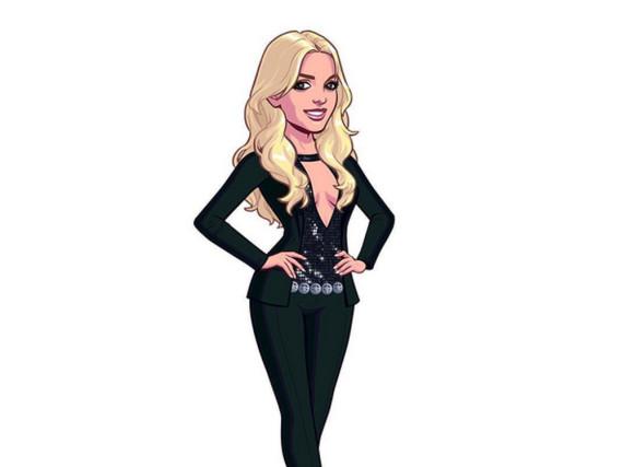 Britney Spears zeigt ihren Fans, wie ihre virtuelle Figur aussieht