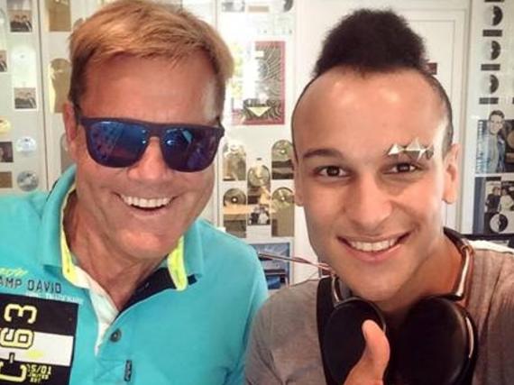 Dieter Bohlen und Prince Damien im Studio