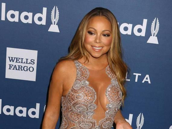 Mariah Carey lenkte die Blicke bei den GLAAD Media Awards geschickt auf ihr Dekolleté