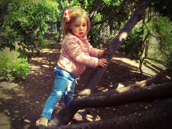 Ob sie wirklich so richtig gern klettert? Prinzessin Leonore von Schweden