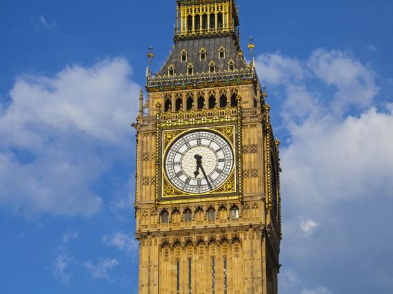 Der Big Ben, eines von Londons Wahrzeichen