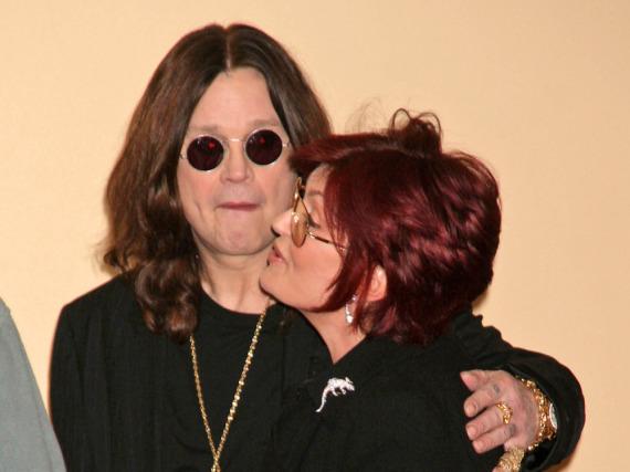 So innig zeigten sich Ozzy und Sharon Osbourne auch auf dem roten Teppich