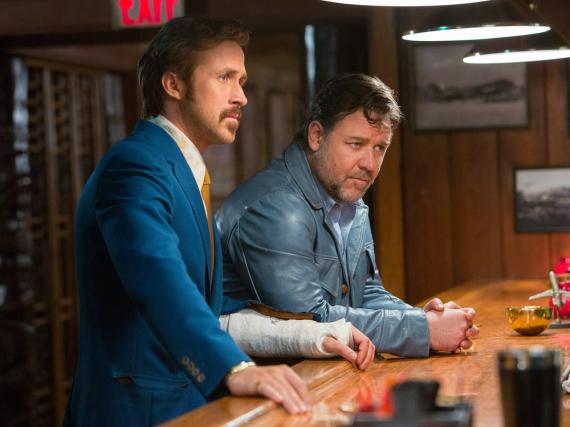 Holland March (Ryan Gosling, li.) und Jackson Healy (Russell Crowe) müssen zusammenarbeiten