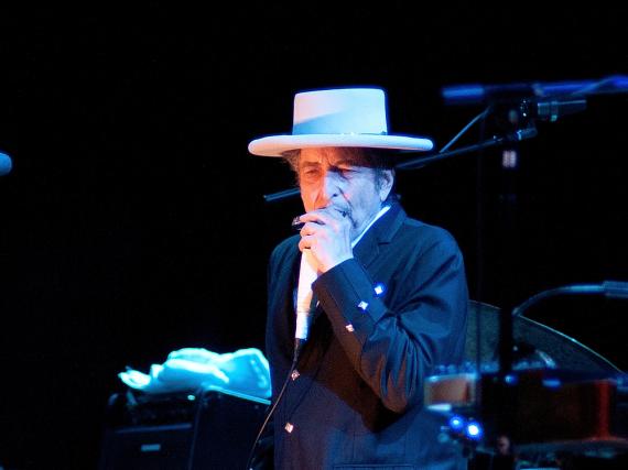 Bob Dylan 2012 bei einem Auftritt in Spanien