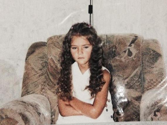 Gar nicht glücklich: Model Stefanie Giesinger auf einem alten Schnappschuss
