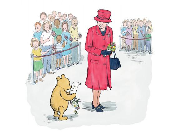 Winnie Puuh gratuliert der Queen mit einem Gedicht