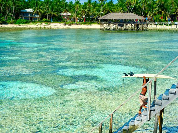 Bei Surfern sehr beliebt: die kleine philippinische Insel Siargao