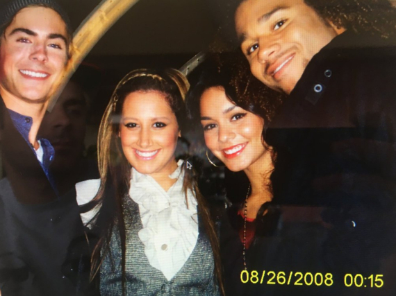 Zac Efron, Ashley Tisdale, Vanessa Hudgens und Corbin Bleu (v.l.n.r) in Jahr 2008