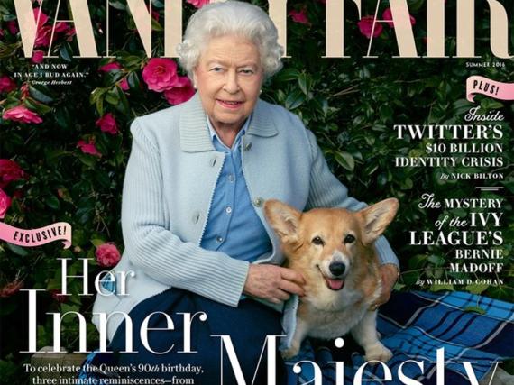 Queen Elizabeth II. und ihre vier treuen Hunde Holly, Willow, Vulcan und Candy
