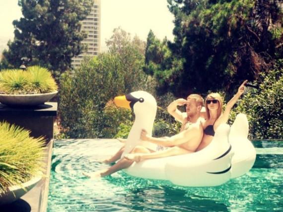 So innig werden Taylor Swift und Calvin Harris nun wohl nicht mehr zu sehen sein