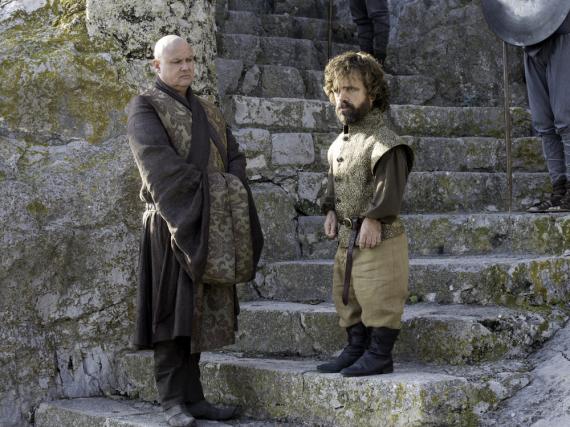 Tyrion Lennister (Peter Dinklage, re.) und Varys (Conleth Hill)