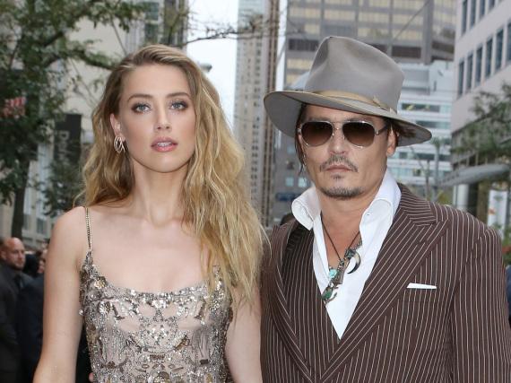 Amber Heard und Johnny Depp auf der Premiere ihres Films