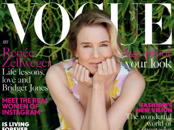 In einer floralen Robe ist Renée Zellweger demnächst auf dem Cover der britischen