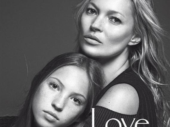 Kate Moss und ihre Tochter Lila Grace auf dem Cover der