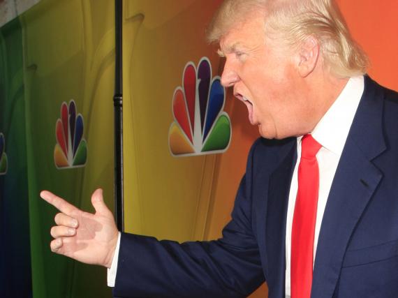 Donald Trump bei einem Auftritt in Kalifornien