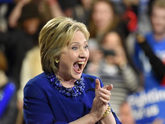 Hillary Clinton hat die Mehrheit der Demokraten hinter sich