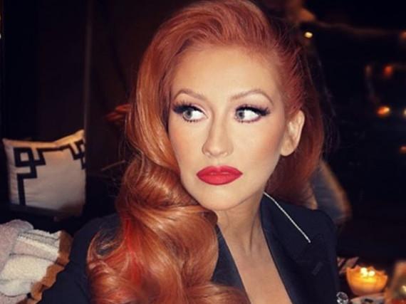 Die roten Haare stehen ihr gut: Christina Aguilera