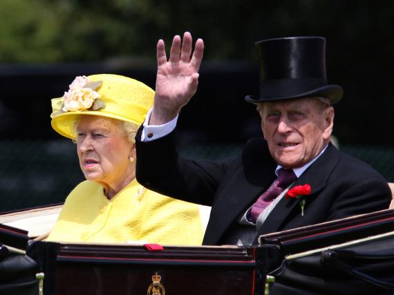 Prinz Philip mit seiner Ehefrau Queen Elisabeth II.