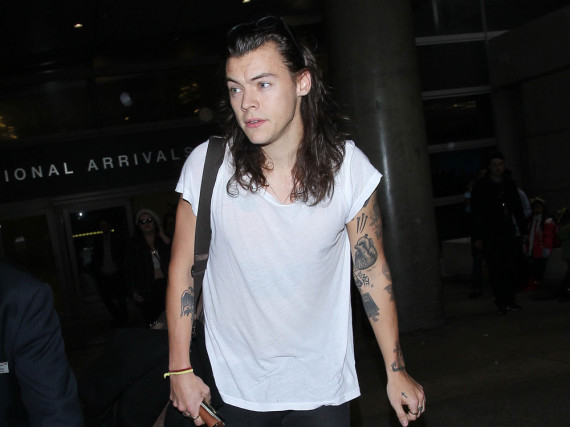 Harry Styles Wohnung in London wurde mit Graffiti