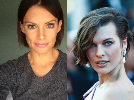 Stuntfrau Olivia Jackson (l.) und Schauspielerin Milla Jovovich