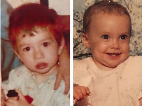 Daniela Katzenberger vergleicht Babyfotos von sich (r.) und ihrem Mann Lucas