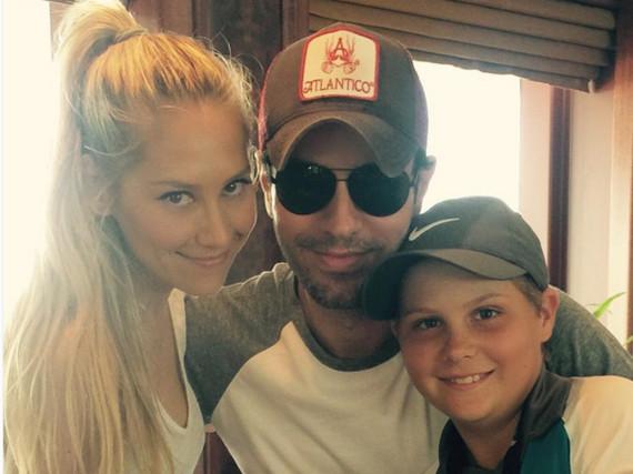 Anna Kournikova und Enrique Iglesias zusammen auf einem Foto - eine Seltenheit!