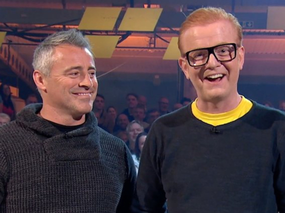 Matt LeBlanc (li.) und Co-Moderator Chris Evans