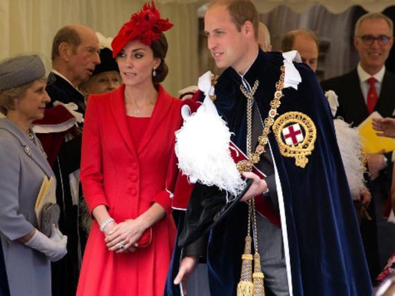 Herzogin Kate und Prinz William beim Gottesdienst zu Ehren des Hosenbandordens
