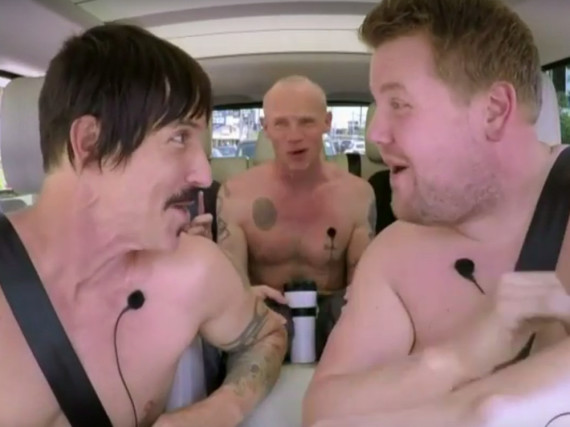 Die Red Hot Chili Peppers hatten bei James Cordens