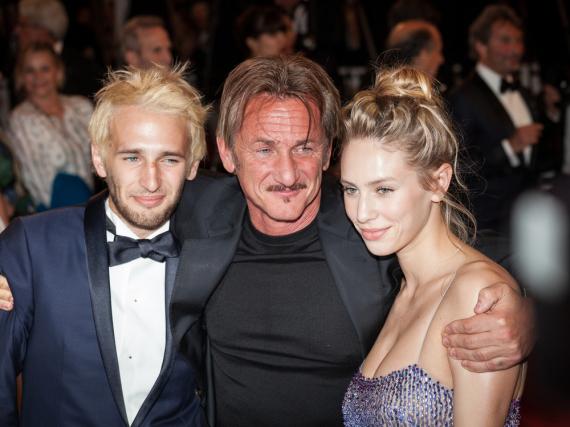 Sean Penn mit Sohn Hopper und Tochter Dylan bei den Filmfestspielen in Cannes