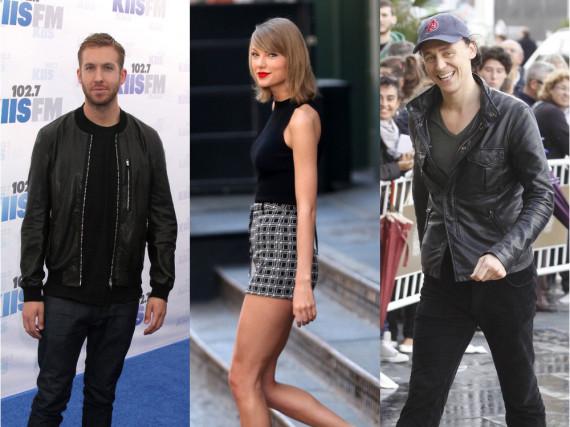 Liebes-Wirrwarr: Calvin Harris (l.), Taylor Swift und Tom Hiddleston