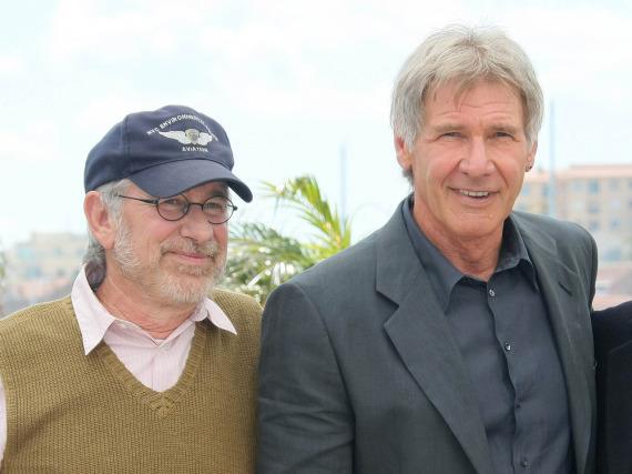 Dreamteam: Steven Spielberg (l.) und Harrison Ford