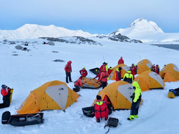 Die Amundsen-Nacht beginnt mit einer vorhergehenden Informationsveranstaltung mit dem erfahrenen Expeditionsteam