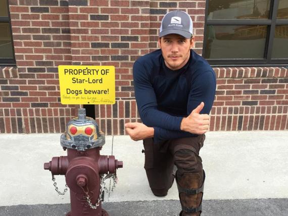 Dieses witzige Bild veröffentlichte Chris Pratt auf seiner Instagram-Seite