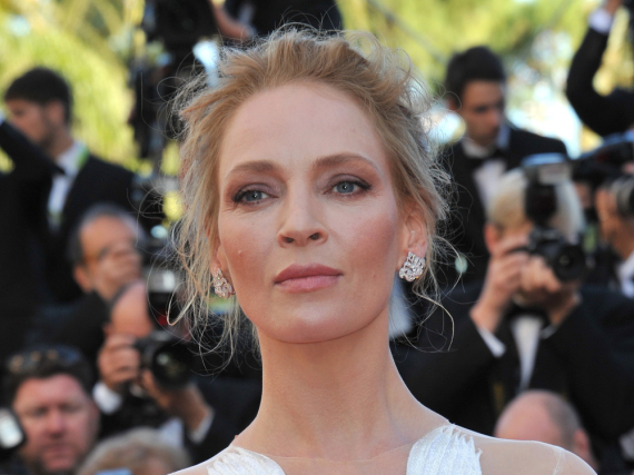 Uma Thurman beim Filmfest in Cannes