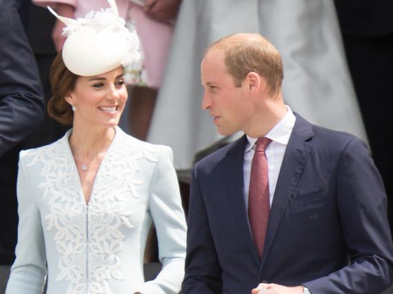 Herzogin Catherine und Prinz William scherzten auf einer Party.